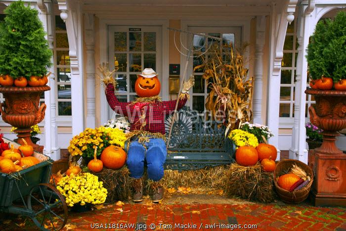 Porch in Autumn, Woodstock, Vermont, USA