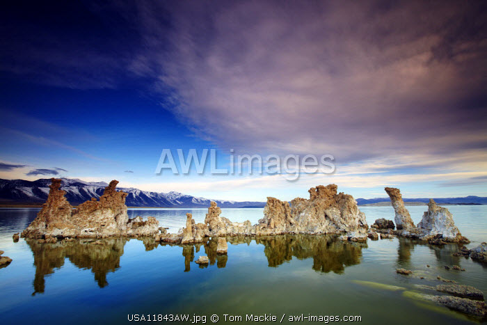 Cloudscape over Mono Lake, Lee Vining, California, USA