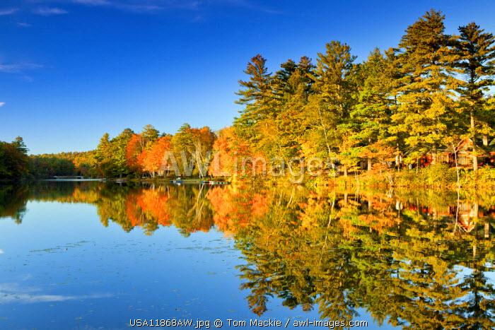 Megunticook Lake in Autumn, Camden, Maine, USA