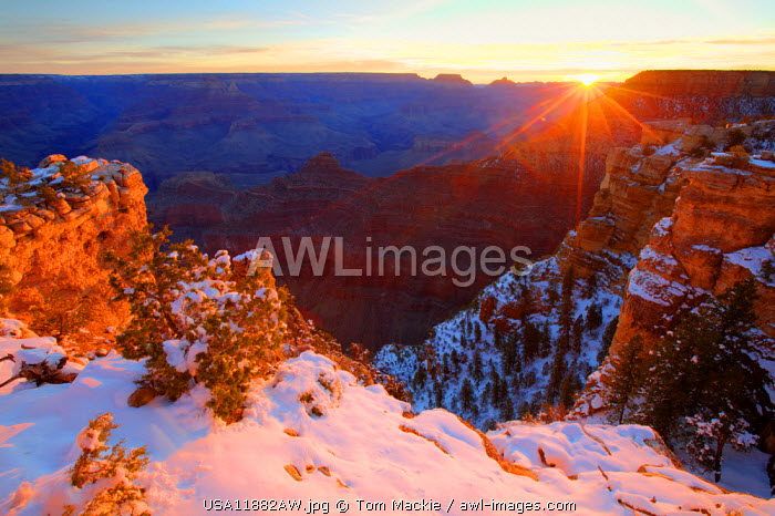 Winter Sunrise, Grand Canyon National Park, Arizona, USA