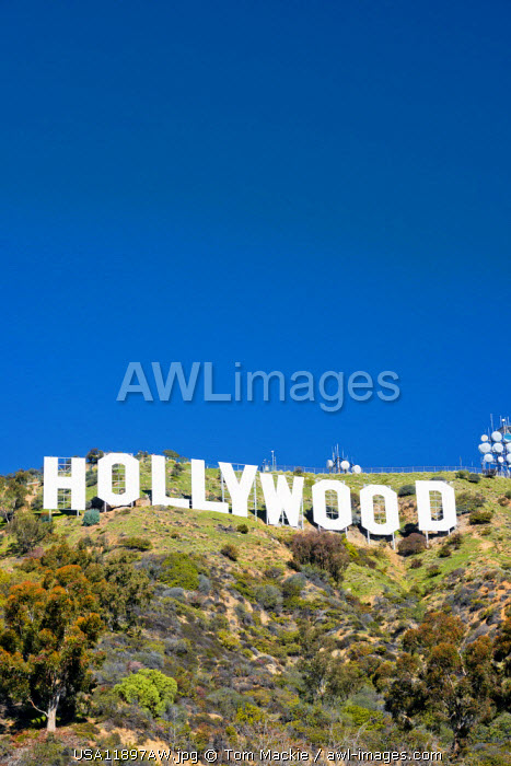 The Hollywood Sign, Los Angeles, California, USA