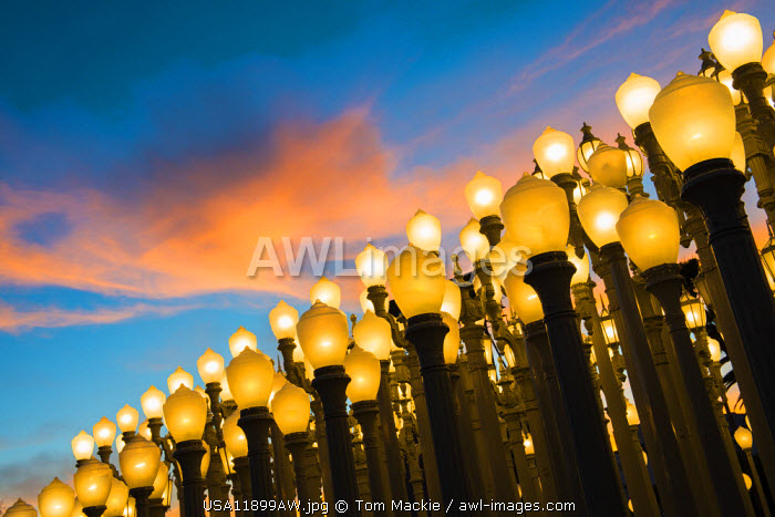 Urban Light Sculpture, LACMA, Los Angeles, California, USA