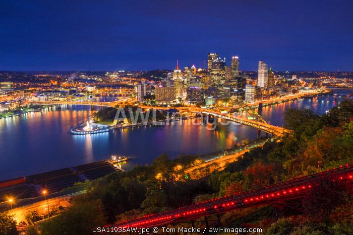 Pittsburgh Skyline at Night, Pennsylvania, USA