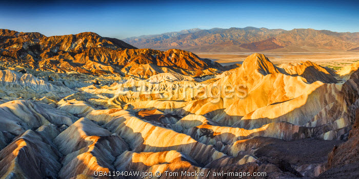 Manly Beacon & Golden Valley, Death Valley National Park, California, USA