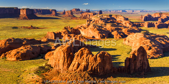 View from Hunt's Mesa, Monument Valley Tribal Park, Arizona, USA