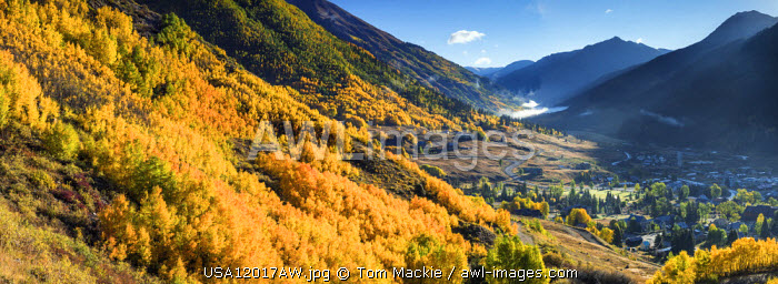 Vieww over Silverton in Autumn, Colorado, USA