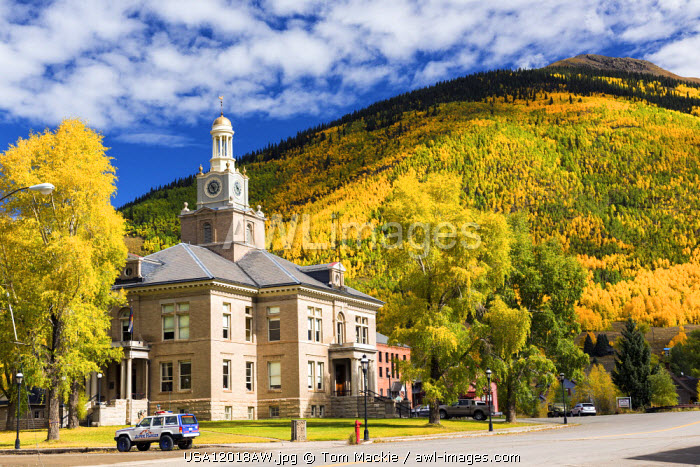 Silverton in Autumn, Colorado, USA