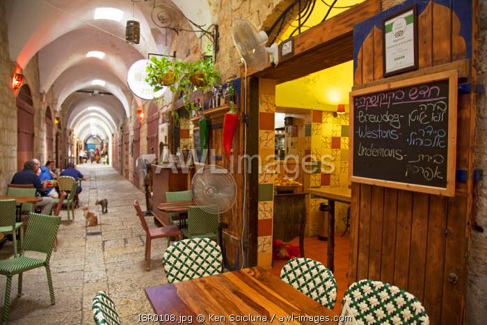 Israel, Akko. Outlets inside the Turkish Bazaar. Unesco.