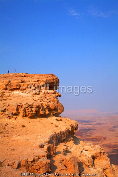 Israel, Negev Desert, Mitzpe Ramon. The spectacular Negev desert crater of Makhtesh Ramon in Israel s largest national park the Ramon Nature Reserve.