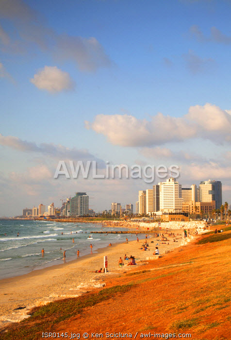 Israel, Tel Aviv. The City as seen from the beach.