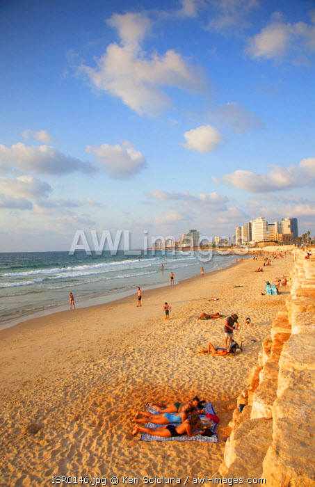 Israel, Tel Aviv. The City as seen from the beach.
