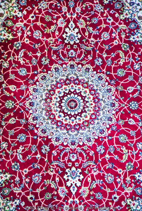 Israel, Jerusalem. Unesco. A carpet on sale in the market.