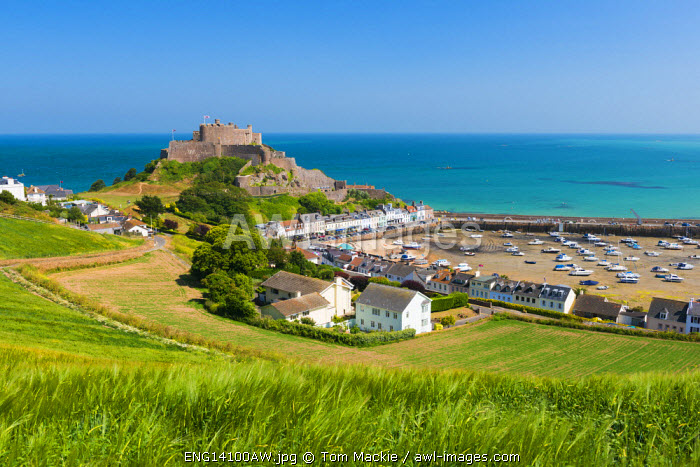 View Over Gorey Castle, Mont Orgueil, Jersey, Channel Islands