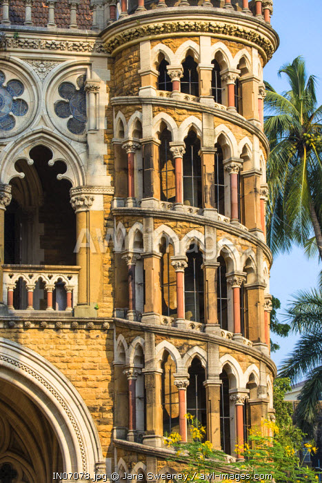 India, Maharashtra, Mumbai, Fort area, University of Mumbai, designed by Gilbert Scott who designed London�s St Pancras train station