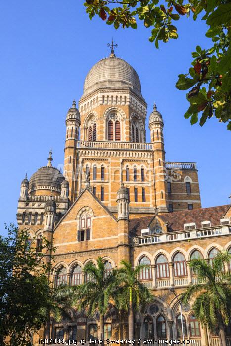 India, Maharashtra, Mumbai, Brihan Mumbai Mahanagarpalika - Government offices, opposite Chhatrapati Shivaji Terminus