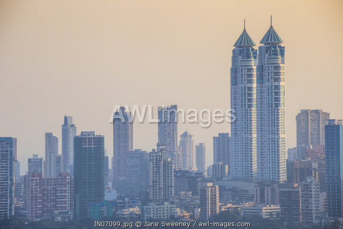 India, Maharashtra, Mumbai, Imperial twin-tower residential complex