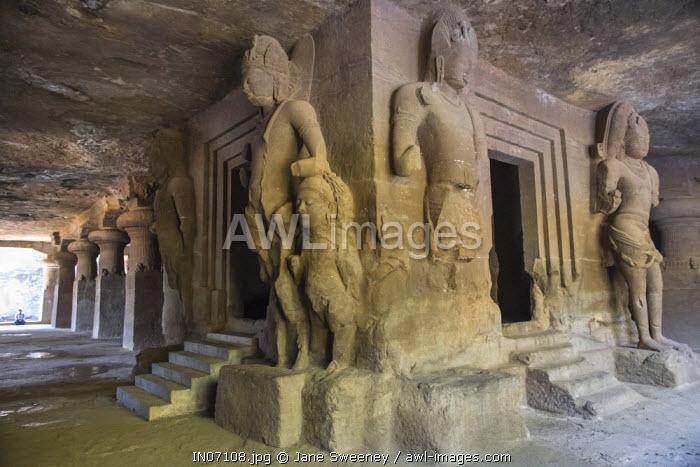 India, Maharashtra, Mumbai, Elephanta Island cave temples, a Unesco World Heritage Site