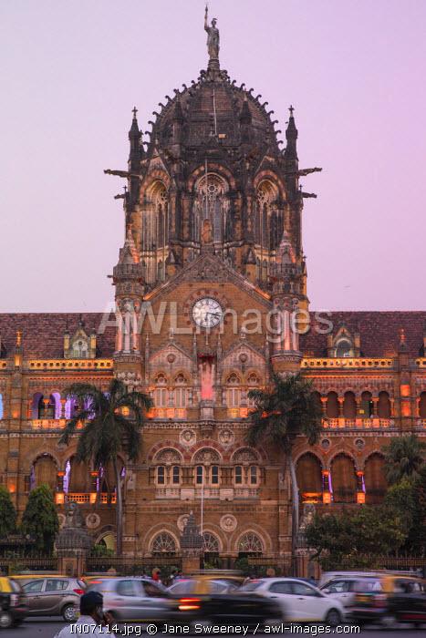 India, Maharashtra, Mumbai, Chhatrapati Shivaji Terminus a historic railway station and a UNESCO World Heritage Sit