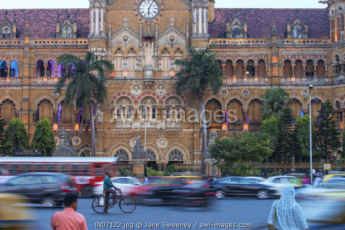 India, Maharashtra, Mumbai, Chhatrapati Shivaji Terminus a historic railway station and a UNESCO World Heritage Sit