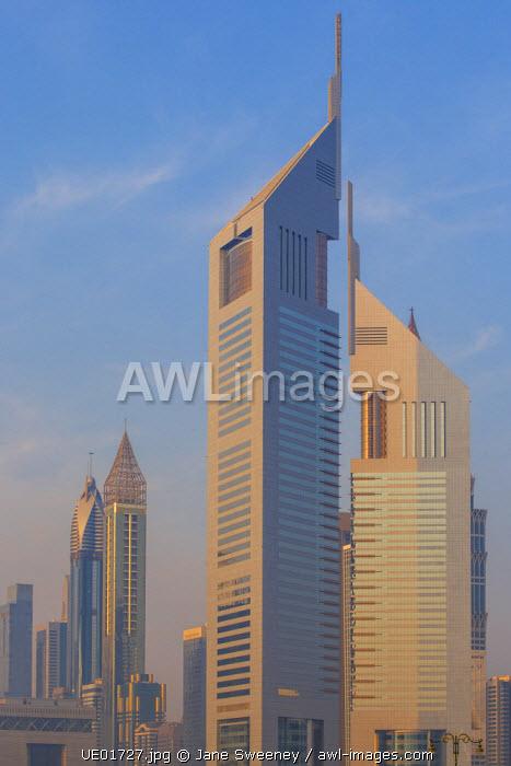 United Arab Emirates, Dubai, Building in Dubai financial area, Emirates Towers