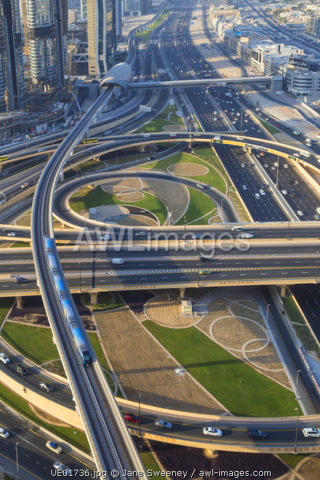 United Arab Emirates, Dubai, Sheikh Zayed Road and Financial Centre Road Interchange