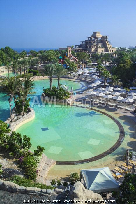 United Arab Emirates, Dubai, Palm Jumeirah island, Atlantis the Palm, Aquaventure Waterpark