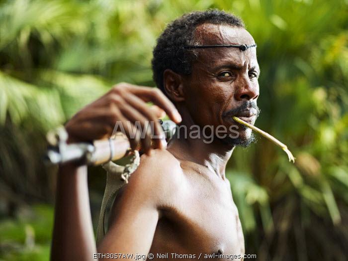 Afar warrior portrait, Ethiopia, Africa
