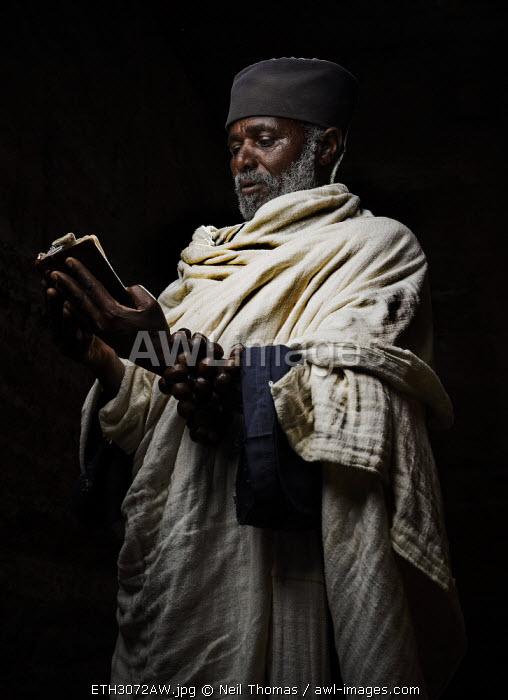 Portrait of a Tigraen priest, Ethiopia, Africa