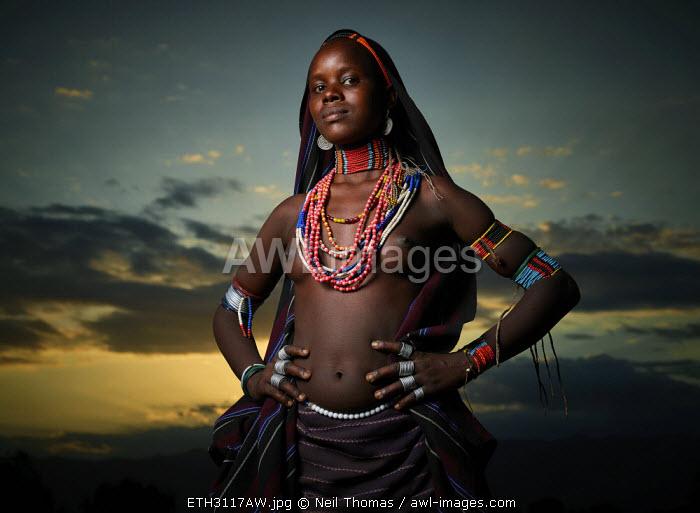 Arbore tribe girl, Ethiopia, Africa