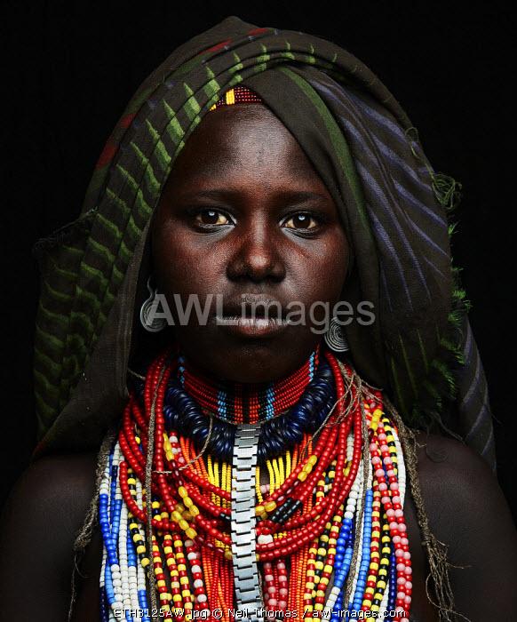 Arbore girl portrait, Ethiopia, Africa