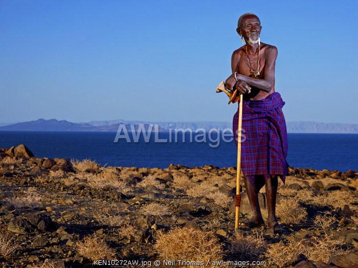 Turkana man, Kenya, Africa