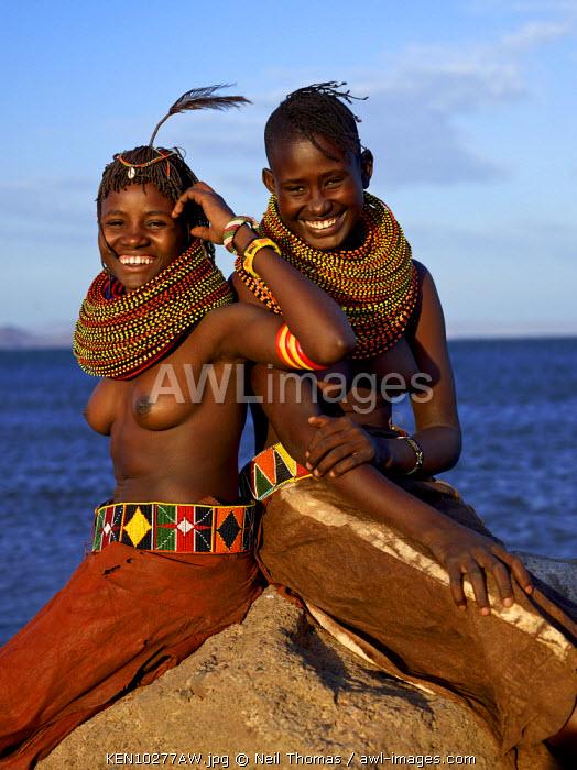 Turkana maidens, Kenya, Africa