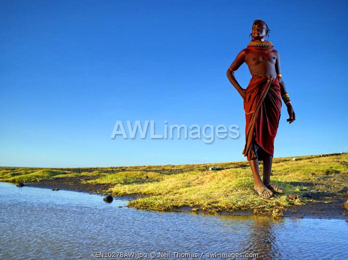 Turkana maiden, Kenya, Africa