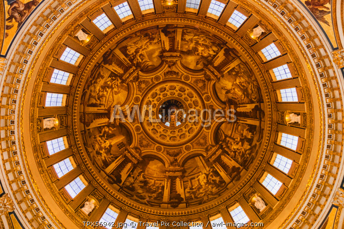 England, London, The City, St Paul's Cathedral, The Dome