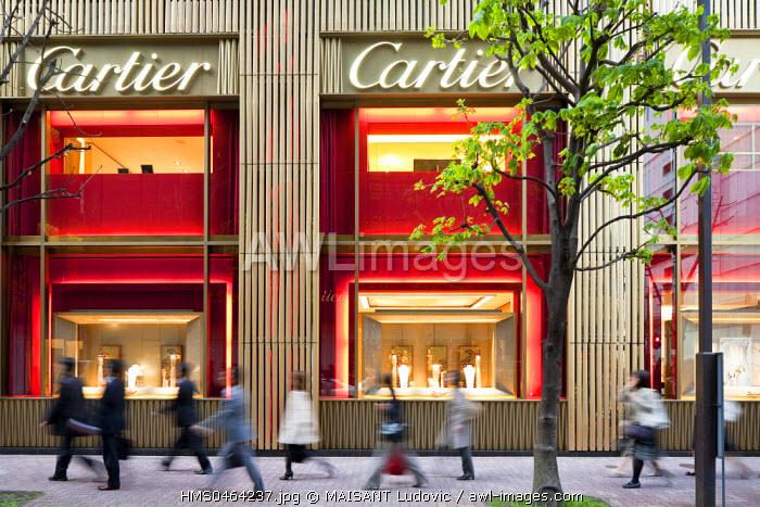 Japan, Honshu Island, Tokyo, Ginza, French luxury store Cartier