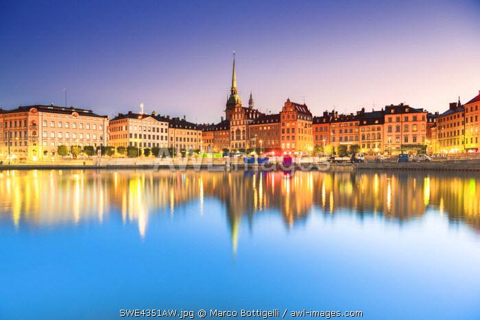 Gamla stan, Stockholm, Sweden, Northern Europe. Cityscape at sunrise.