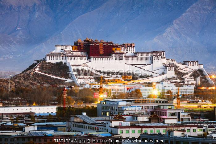 Famous Potala palace, Lhasa, Tibet, China