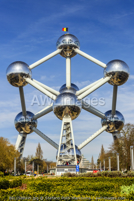 Atomium building originally constructed for Expo 58, Brussels, Belgium