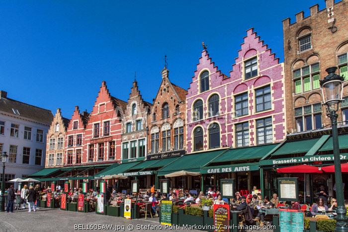 Markt or Market Square, Bruges, West Flanders, Belgium
