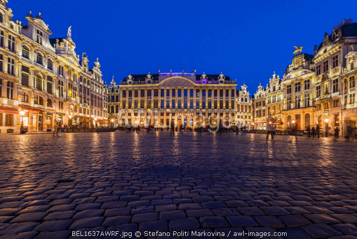 Grand Place by night, Brussels, Belgium