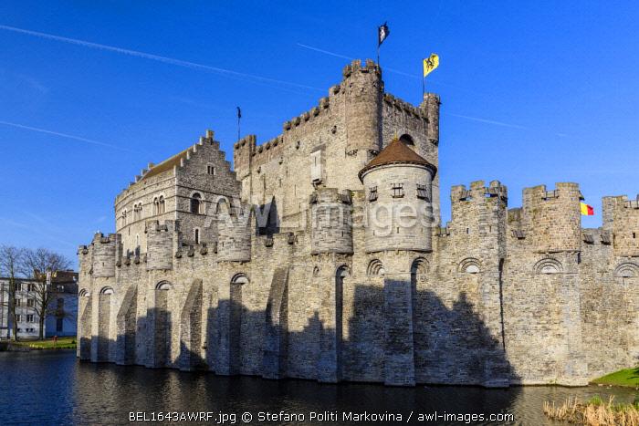 Gravensteen castle, Ghent, East Flanders, Belgium