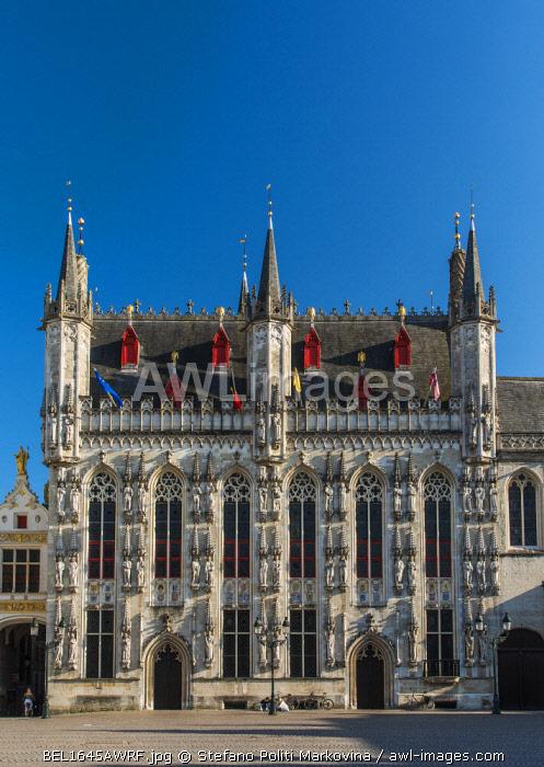Stadhuis or City Hall, Bruges, West Flanders, Belgium