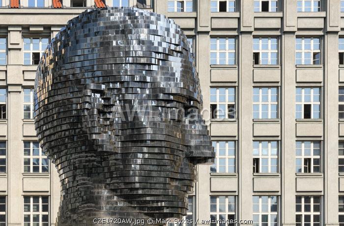 Europe, Czech Republic, Prague, Franz Kafka Head
