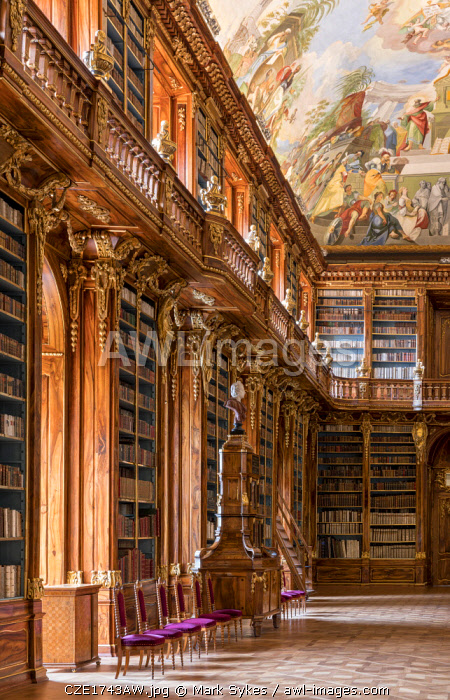 Europe, Czech Republic, Prague, Strahov Monastery, Strahov Library, Philosophical Hall