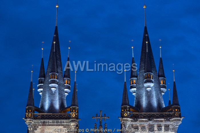 Europe, Czech Republic, Prague, Old Town Square, Church of Our Lady Before Tyn