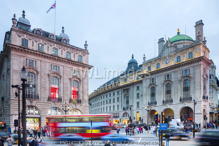 United Kingdom. England. London. Piccadilly Circus in Central London.