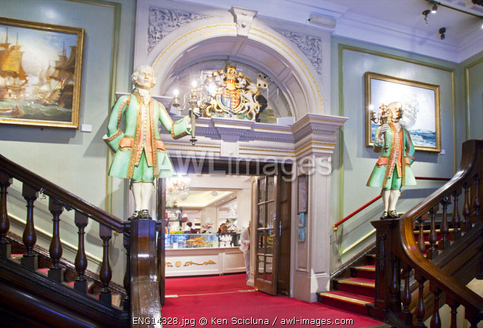 United Kingdom. England. London. Interior of famed luxury Fortnum and Mason shop.
