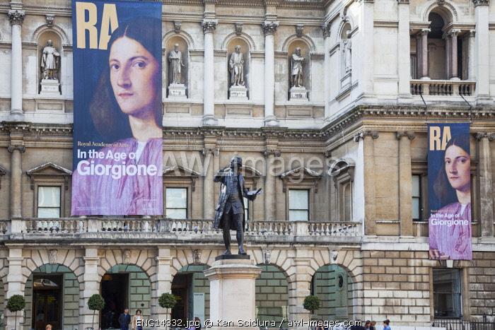 United Kingdom. England. London. The Royal Academy of Arts Facade