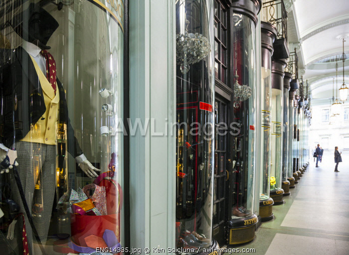 United Kingdom. England. London. Luxury clothes at one of the shopping malls in Regent Street.