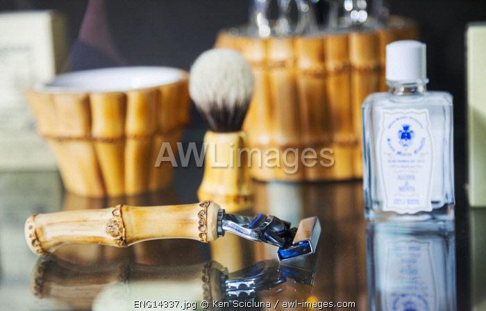 United Kingdom. England. London. Men s shaving luxury items.